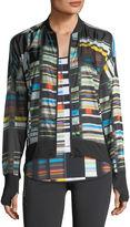 Blanc Noir Featherweight Stripe-Print Jacket