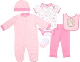 Cutie Pie Baby Pink Polka-Dot Animal Footie Set - Infant