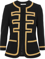 Givenchy Embroidered Jacket In Black Wool - FR36