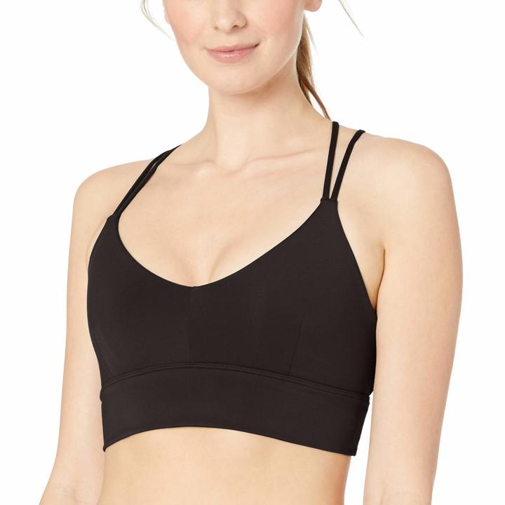 Core 10 Strappy Long Line Sports Bra Black XS