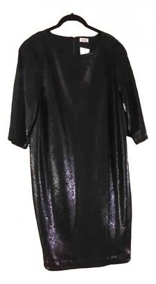 Closed Black Glitter Dress for Women