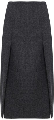 Prada Split-Detailed Midi Skirt