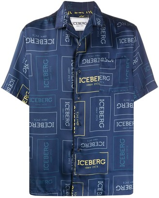 Iceberg Short Sleeve Logo Print Shirt