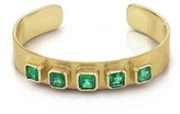 Irene Neuwirth Colombian Emerald Cuff - Yellow Gold