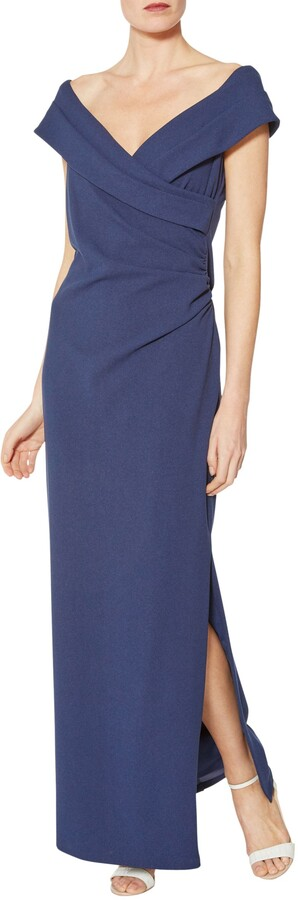 Thumbnail for your product : Gina Bacconi Scuba Crepe Maxi Dress