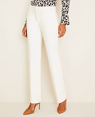 Ann Taylor The Petite Tab Waist Straight Pant - Curvy Fit