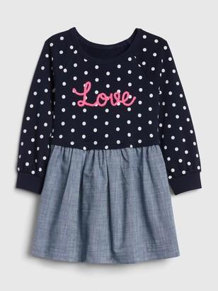 Gap Toddler Love Mix-Media Dress