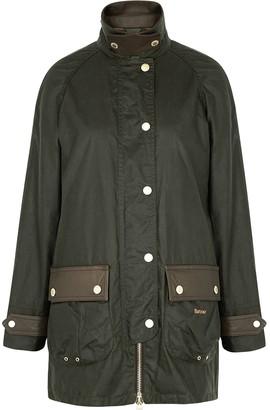 Barbour Winslet Dark Green Waxed Cotton Jacket