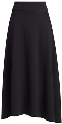 Joan Vass A-Line Handkerchief Midi Skirt