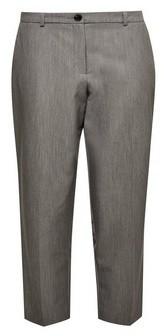 Dorothy Perkins Womens Dp Petite Grey Elastic Back Ankle Grazer Trousers, Grey
