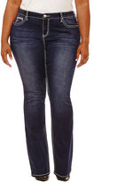 Boutique + + 30 Embellished Pocket Bootcut Jeans-Plus