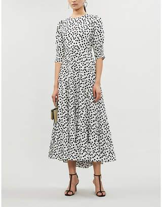 Rixo Agyness polka-dot cotton and silk-blend maxi dress