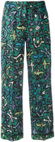 Valentino abstract print flared trousers - women - Silk/Spandex/Elastane/Lyocell - S