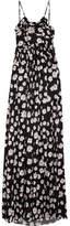 Balenciaga Floral-print Silk-jacquard Maxi Dress - Black