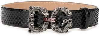 Dolce & Gabbana Amore logo belt