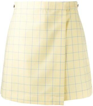 Thom Browne High-Waisted Check-Print Shorts