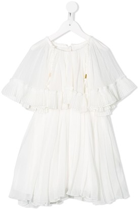 Chloé Kids Pleated Midi Dress