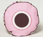 Bacati Modern Dots/Stripes Pink/Chocolate Decorative Pillow