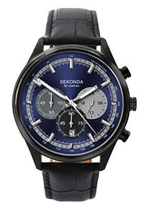 Sekonda Watches Mens Chronograph Quartz Watch with Leather Strap 1593.27