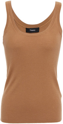 Theory Ribbed Wool-blend Tank