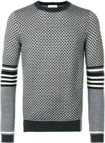 Paolo Pecora patterned panel sweater