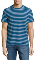 Black & Brown Black Brown Striped Roundneck Tee