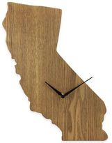 California State Wood Grain Wall Clock