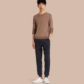Burberry Tailored Herringbone Wool Track Pants