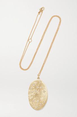 Brooke Gregson Leo 14-karat Gold Diamond Necklace