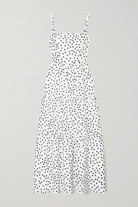 Heidi Klein Tiered Polka-dot Silk-crepe Maxi Dress - White