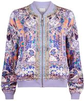 Camilla Floral Silk Bomber Jacket