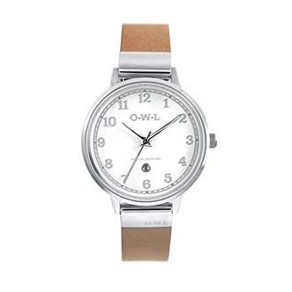 OWL Women's Analogue Japanese Quartz Watch with Stainless Steel Strap S8SST