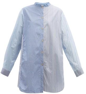 By Walid Ally Multi-stripe Cotton Shirt - Blue Multi