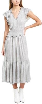 Rebecca Taylor Smocked Midi Dress