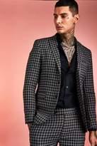Monochrome Check Skinny Fit Suit Jacket