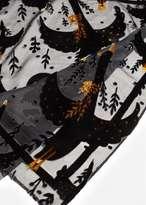 MANGO Velvet detail scarf