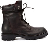 Rick Owens distressed lace detail ankle boots - men - Calf Leather/Horse Leather/rubber - 40
