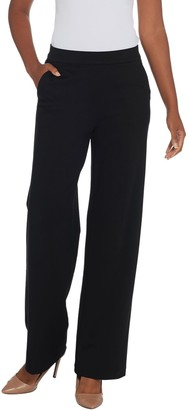 Halston H By H by Petite Ultra Knit Pull-On Wide Leg Pants