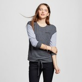 Well Worn Women's Babe Super Soft Drawstring Pullover Charcoal Gray - Well Worn (Juniors')