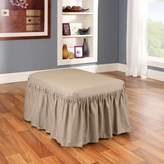 Sure Fit Solid Duck Cloth Ottoman Slipcover
