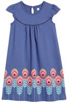 Tea Collection Feather Graphic Shift Dress