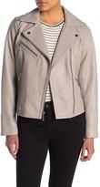 MICHAEL Michael Kors Missy Asymmetrical Moto Leather Jacket