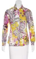 Etro Paisley Print Button-Up Top