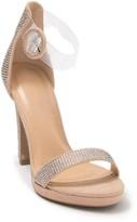 clear Wild Diva Lounge Ayala Embellished Ankle Strap Pump