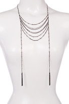 Stephan & Co Multi-Row Chain Tassel Drop Necklace