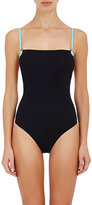 Alexander Wang Women's Bi-Color One-Piece Swimsuit-BLACK