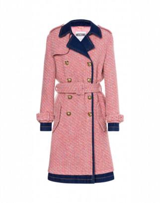 Moschino Boucle And Denim Coat