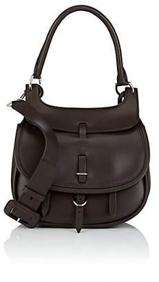 Fontana Milano Women's Chelsea Small Leather Saddle Bag - Dk. brown