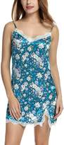 Avidlove Women's Nightshirts Floral Chemises Slip Sleepwear Nightgown M