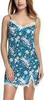Avidlove Women's Nightshirts Floral Chemises Slip Sleepwear Nightgown S